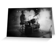 Smokin' drummer! Greeting Card
