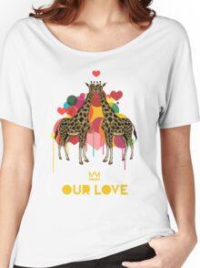 Giraffes Our Love Women's Relaxed Fit T-Shirt