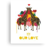 Giraffes Our Love Canvas Print