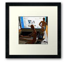 Communication-now Framed Print
