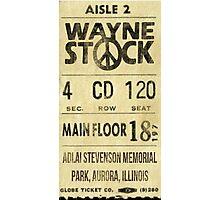 Waynestock Ticket Photographic Print