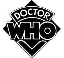 Classic Doctor Who (Black) Photographic Print