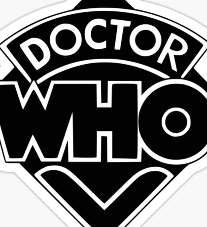 Classic Doctor Who (Black) Sticker