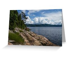 Coastal Beauty of Saguenay River in Quebec, Canada Greeting Card