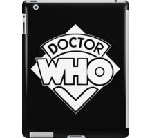 Classic Doctor Who (White) iPad Case/Skin