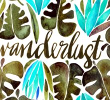 Tropical Wanderlust – Turquoise & Olive Sticker