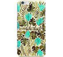 Tropical Wanderlust – Turquoise & Olive iPhone Case/Skin