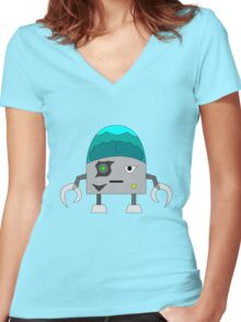 Frankenbot the Destroyer Women's Fitted V-Neck T-Shirt