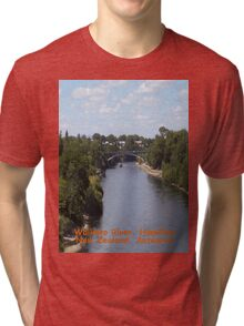 Waikato River, New Zealand Aotearoa Tri-blend T-Shirt
