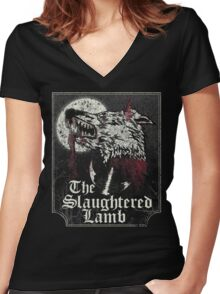 The Slaughtered Lamb  Women's Fitted V-Neck T-Shirt