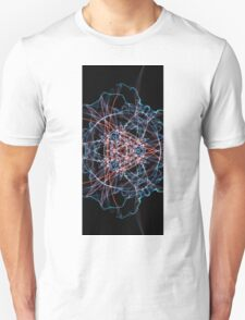 Blue Red on Black T-Shirt