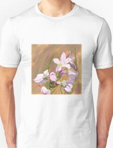Buckwheat flower with abstract background T-Shirt