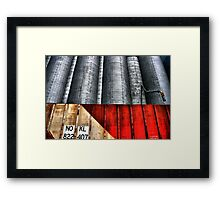 The Grain Train Framed Print