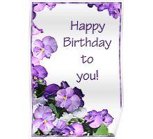 Happy Birthday Card Poster
