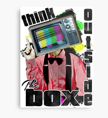 Think Outside The Box! Metal Print