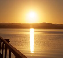 Sunset over Tuggerah Lakes - Long Jetty by jhea5333