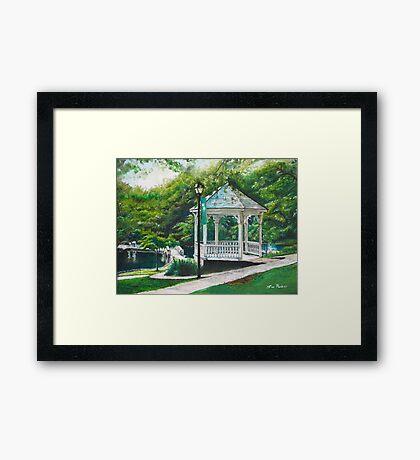 Salem Lake Spring Park Framed Print