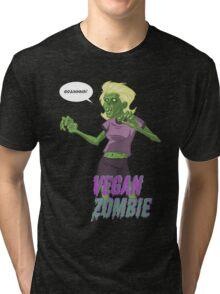 Lady Vegan Zombie Tri-blend T-Shirt