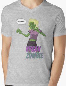 Lady Vegan Zombie Mens V-Neck T-Shirt