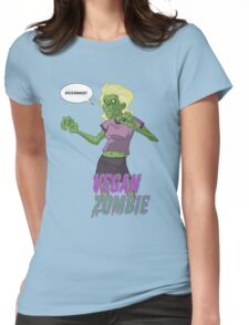 Lady Vegan Zombie Womens Fitted T-Shirt
