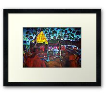 GYMPIE MUSTER - COLLECTION - main stage BADGES of the past Framed Print