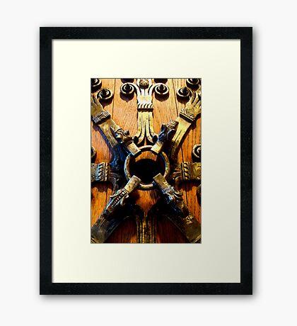 Knock Knock Framed Print
