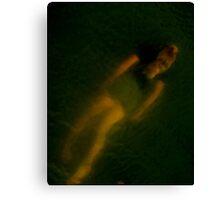 Brock Swimming Canvas Print