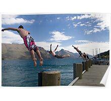 Diving in Queenstown Poster