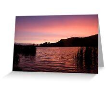 Sunset at Rotorua, New Zealand Greeting Card