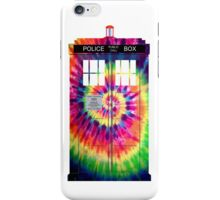 Tie Dye Tardis iPhone Case/Skin