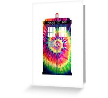 Tie Dye Tardis Greeting Card