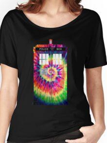 Tie Dye Tardis Women's Relaxed Fit T-Shirt