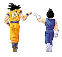 Bejita and Goku feel good ! Photographic Print