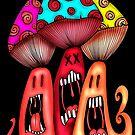 Angry Mushrooms by Octavio Velazquez