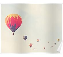 hot air balloon parade Poster