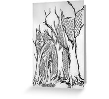 Young forest girl Greeting Card