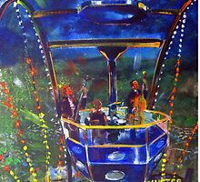 GYMPIE MUSTER - COLLECTION -  FERRIS WHEEL BLUES by tola
