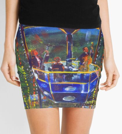 GYMPIE MUSTER - COLLECTION -  FERRIS WHEEL BLUES Mini Skirt