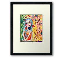 Girl in the Garden 2 Framed Print