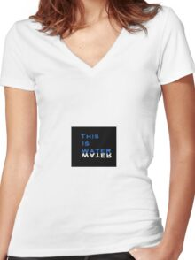 This is Water Women's Fitted V-Neck T-Shirt