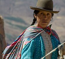 A Peruvian Woman in Sacred Valley by Rachel  Chaikof