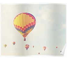 A flock of hot air balloons Poster