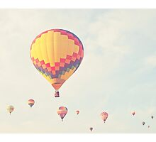 A flock of hot air balloons Photographic Print