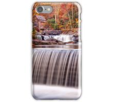 Glade Creek Grist Mill in Autumn and Waterfalls,Vertical iPhone Case/Skin