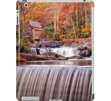 Glade Creek Grist Mill in Autumn and Waterfalls,Vertical iPad Case/Skin