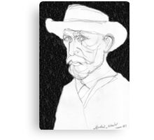 Vincent with straw hat summer 1887 Canvas Print