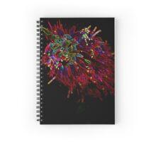 Neon Bottle Brush Spiral Notebook