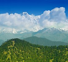 Himalaya Range As Seen from Chopta by Mukesh Srivastava