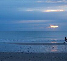 A mornings walk at Brooms Head  by Virginia McGowan