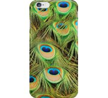 Colorful peacock feathers iPhone Case/Skin